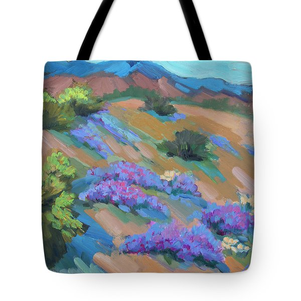 Tote Bag featuring the painting Borrego Springs Verbena by Diane McClary