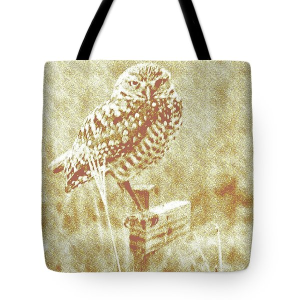 Borrowing Owl Tote Bag by Timothy Lowry