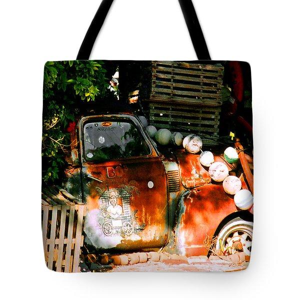 B.o.'s Fish Wagon In Key West Tote Bag