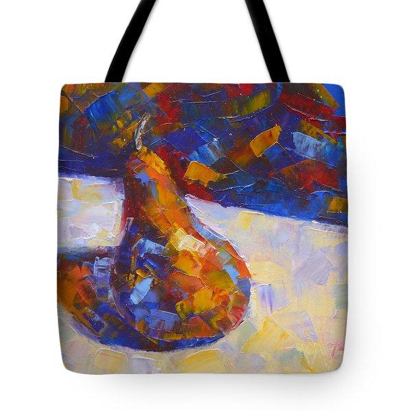Bosc Pear Mosaic Tote Bag