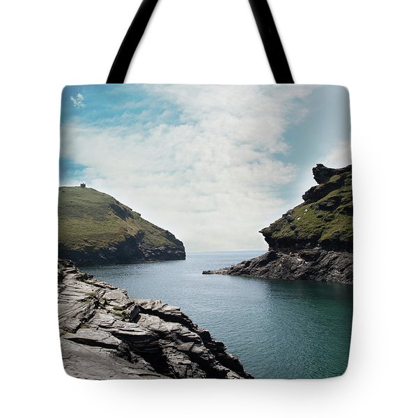 Tote Bag featuring the photograph Boscastle Cornwall by Rebecca Cozart