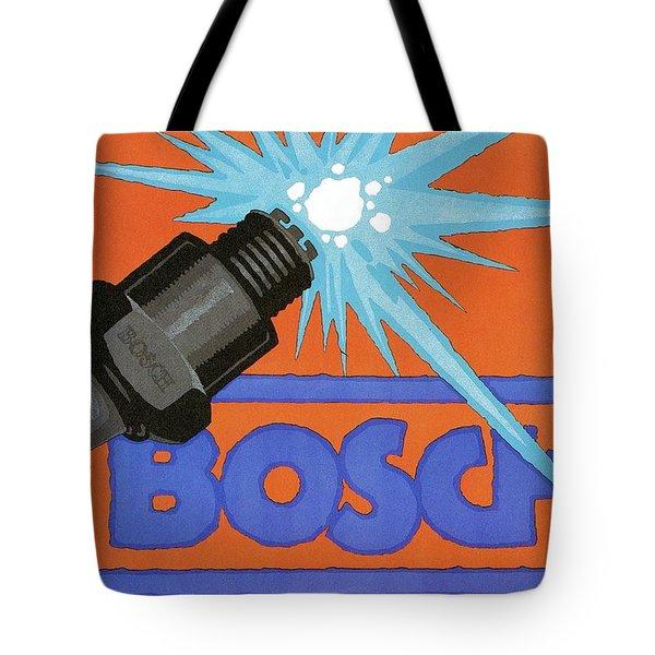 Bosch Spark Plug - Vintage Advertising Poster - Minimal Industrial Art Tote Bag