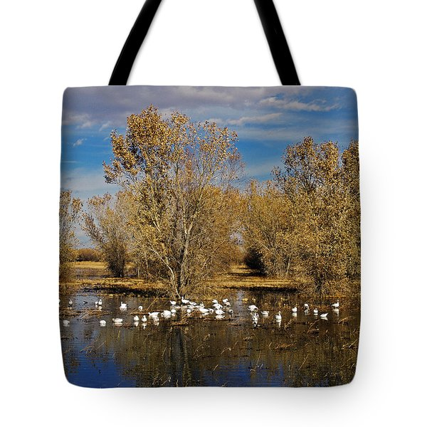 Bosque Del Apache Tote Bag by Kurt Van Wagner