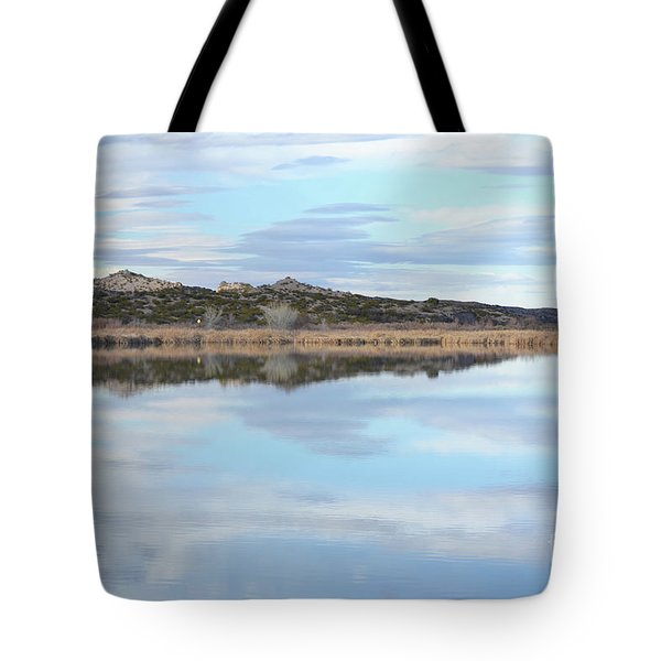 Tote Bag featuring the photograph Bosque Desert Lake by Andrea Hazel Ihlefeld