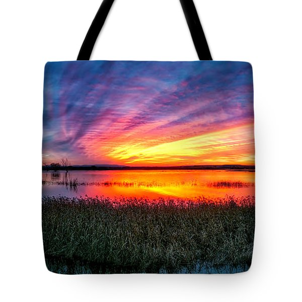 Bosque Sunrise Tote Bag