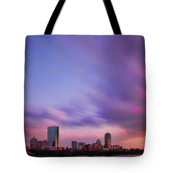 Boston Afterglow Tote Bag by Rick Berk