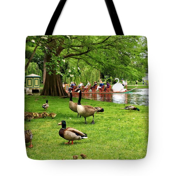 Boston And Her Birds Tote Bag