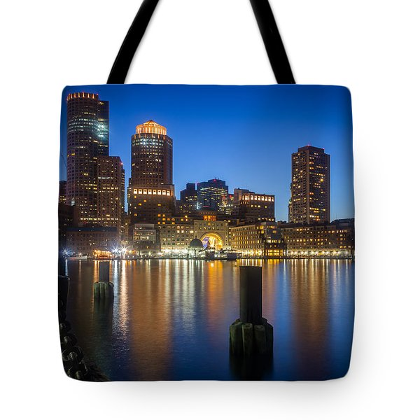 Boston Blues Tote Bag