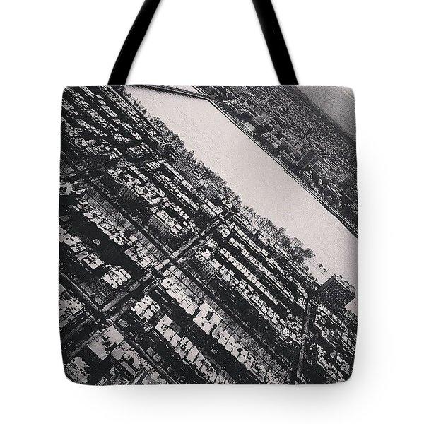 Black And White Boston Tote Bag