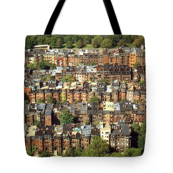 Boston Brownstone Architecture Tote Bag