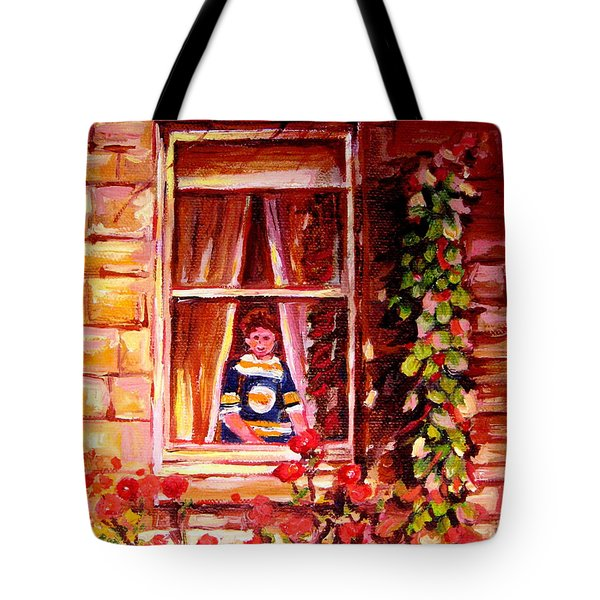 Boston Bruin Fan Tote Bag by Carole Spandau