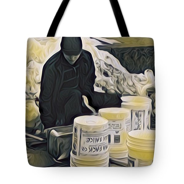 Boston Bucket Man Tote Bag