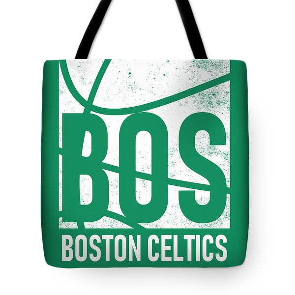 Boston Celtics City Poster Art Tote Bag