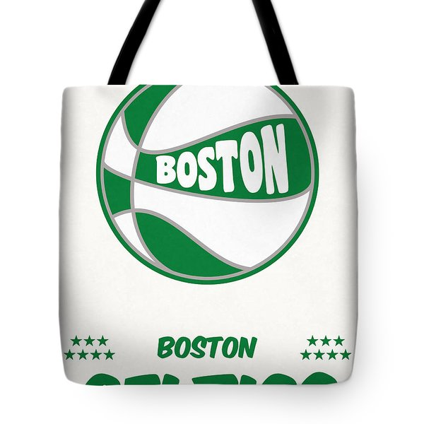 Boston Celtics Vintage Basketball Art Tote Bag
