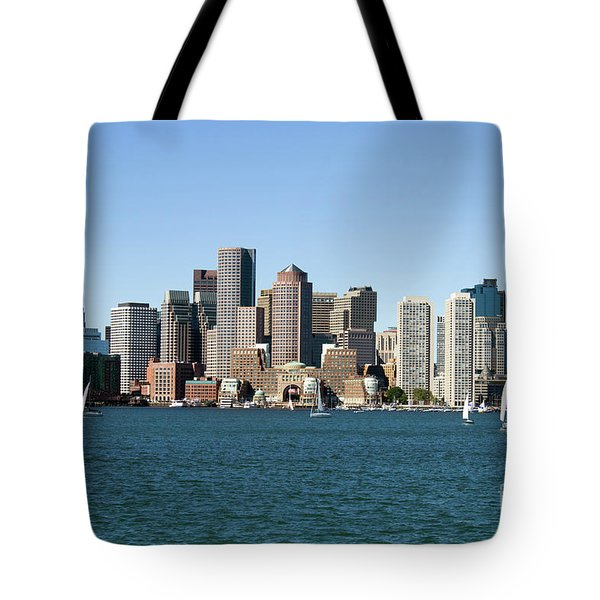 Tote Bag featuring the photograph Boston City Skyline by Steven Frame