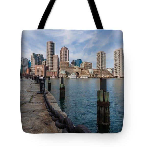 Boston Cityscape From The Seaport District 3 Tote Bag