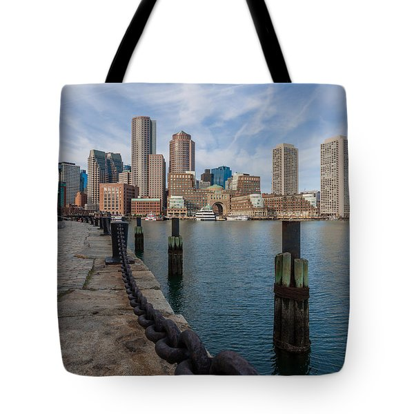Boston Cityscape From The Seaport District 3 Tote Bag