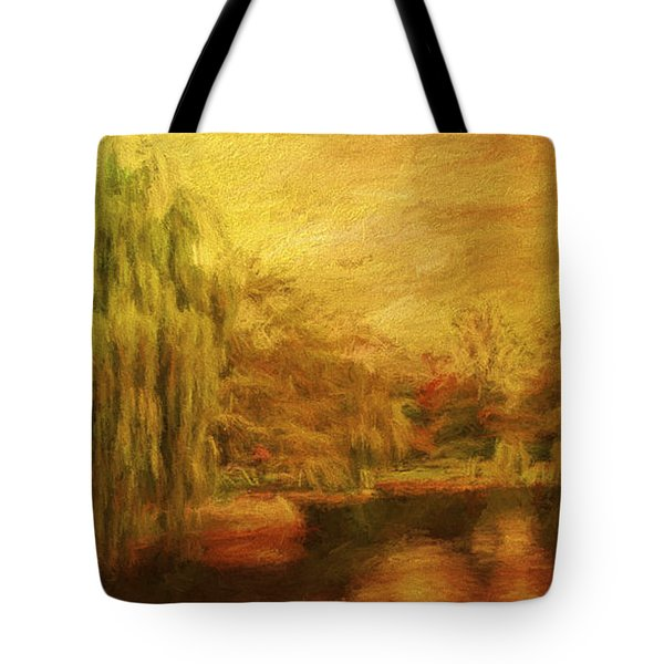 Boston Common In Autumn Tote Bag