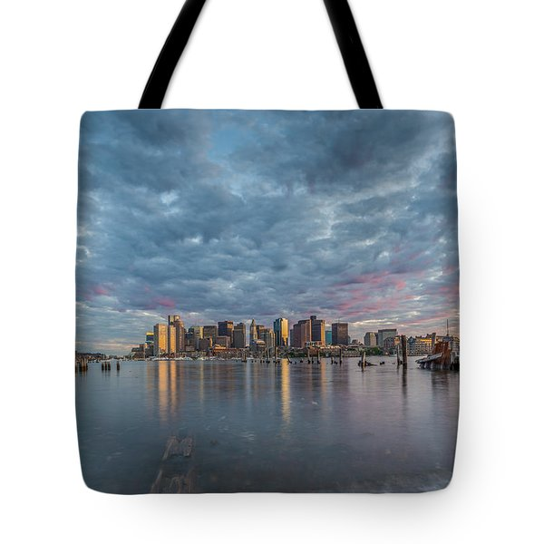 Boston From Carletons Whahrf Tote Bag