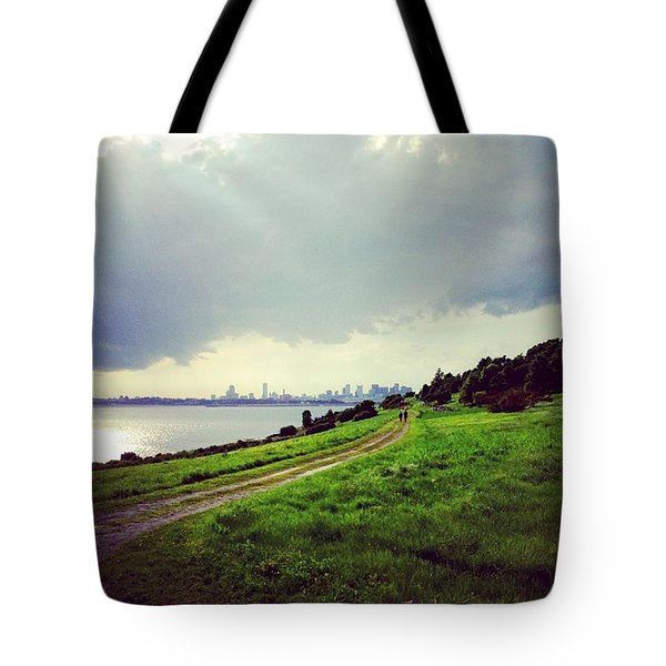 Boston From Spectacle Island Tote Bag