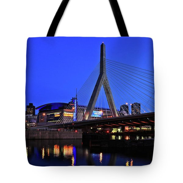 Boston Garden And Zakim Bridge Tote Bag