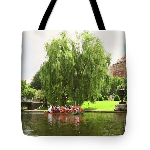 Boston Garden Swan Boat Tote Bag