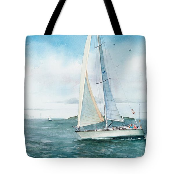 Boston Harbor Islands Tote Bag by Laura Lee Zanghetti