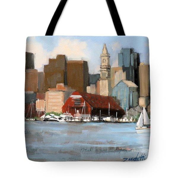 Boston Harbor Tote Bag by Laura Lee Zanghetti
