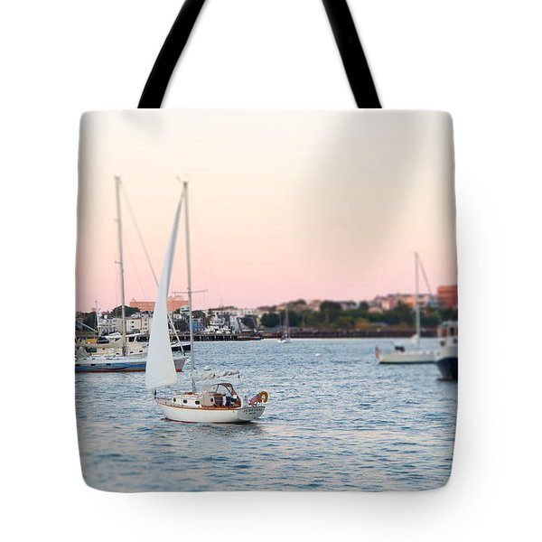 Boston Harbor View Tote Bag