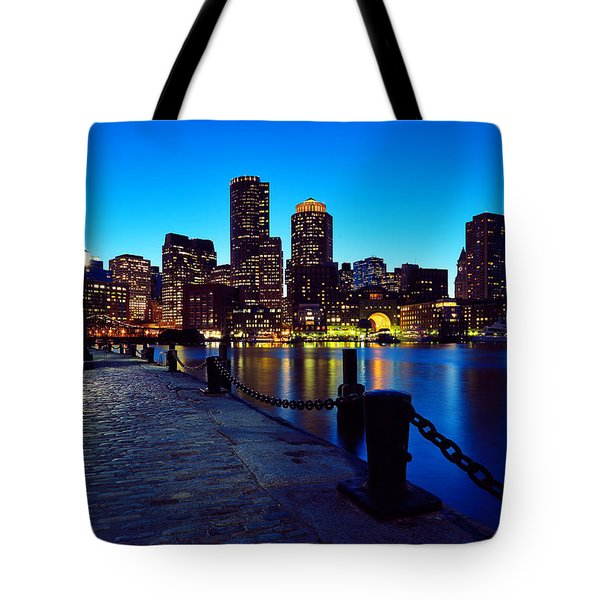 Boston Harbor Walk Tote Bag by Rick Berk