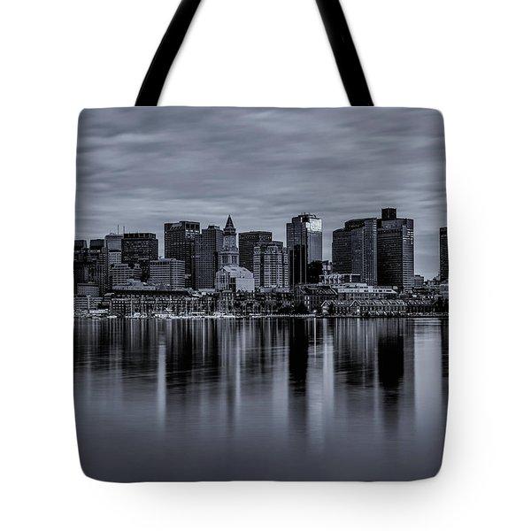 Boston In Monochrome Tote Bag