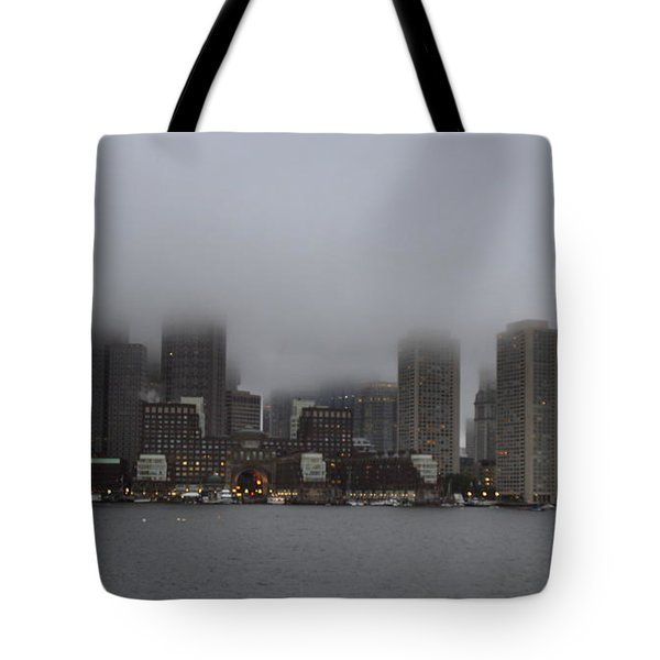 Boston In The Fog Tote Bag