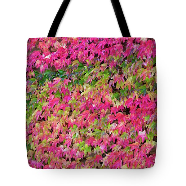 Tote Bag featuring the photograph Boston Ivy In Autumn by Tim Gainey