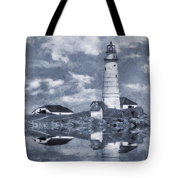 Tote Bag featuring the photograph Boston Light  by Ian Mitchell