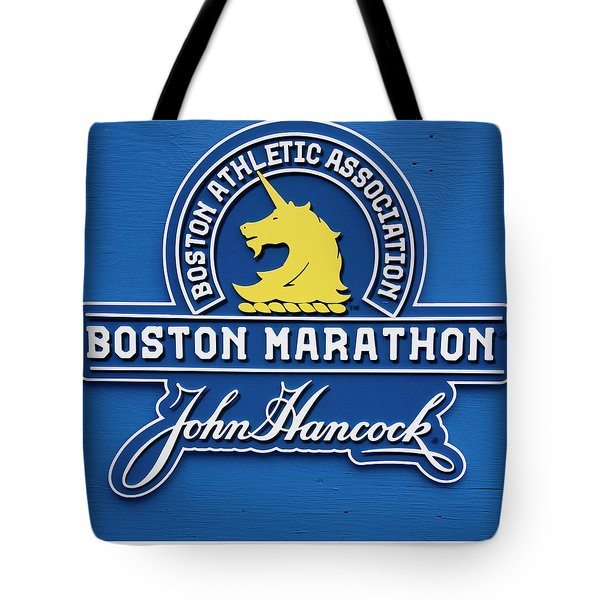 Tote Bag featuring the photograph Boston Marathon - Boston Athletic Association by Joann Vitali