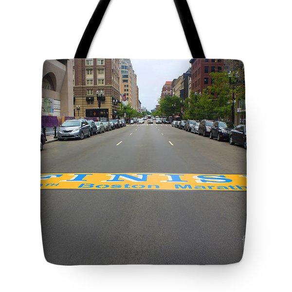 Boston Marathon Finish Line Tote Bag