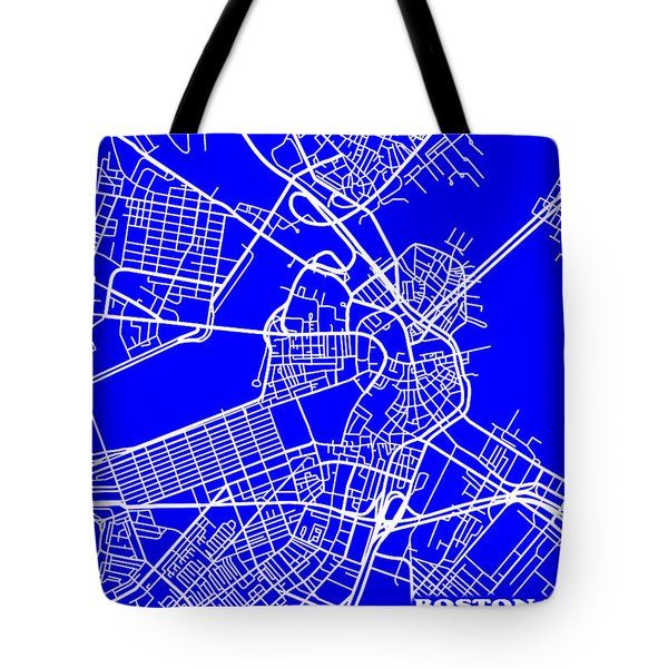 Boston Massachusetts City Map Streets Art Print   Tote Bag