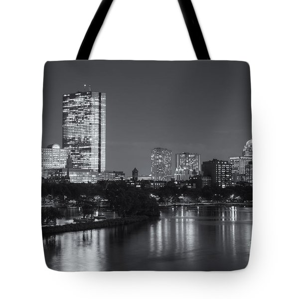 Boston Night Skyline V Tote Bag