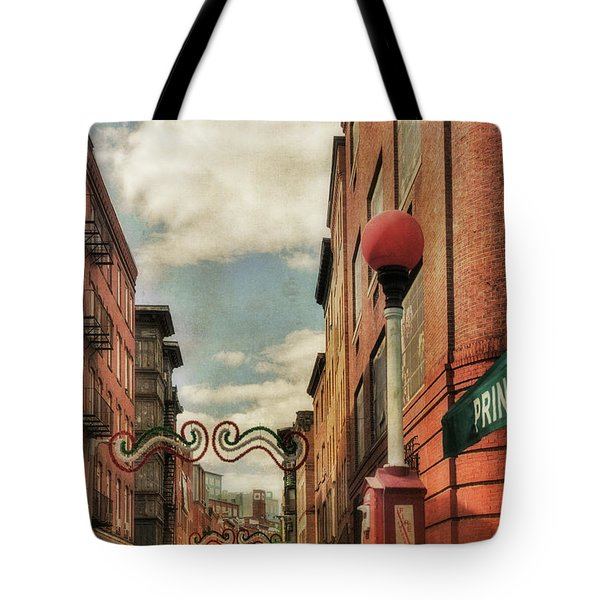 Tote Bag featuring the photograph Boston North End by Joann Vitali