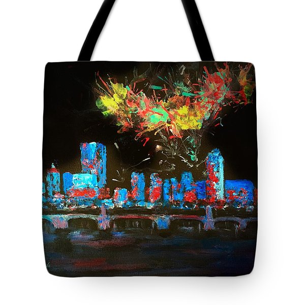 Boston On The Charles Tote Bag