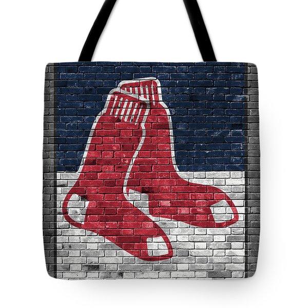 Boston Red Sox Brick Wall Tote Bag by Joe Hamilton