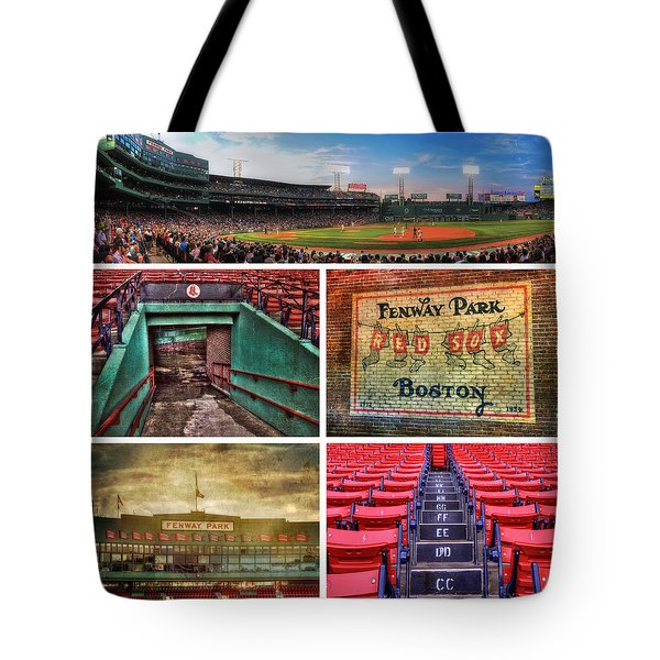 Boston Red Sox Collage - Fenway Park Tote Bag