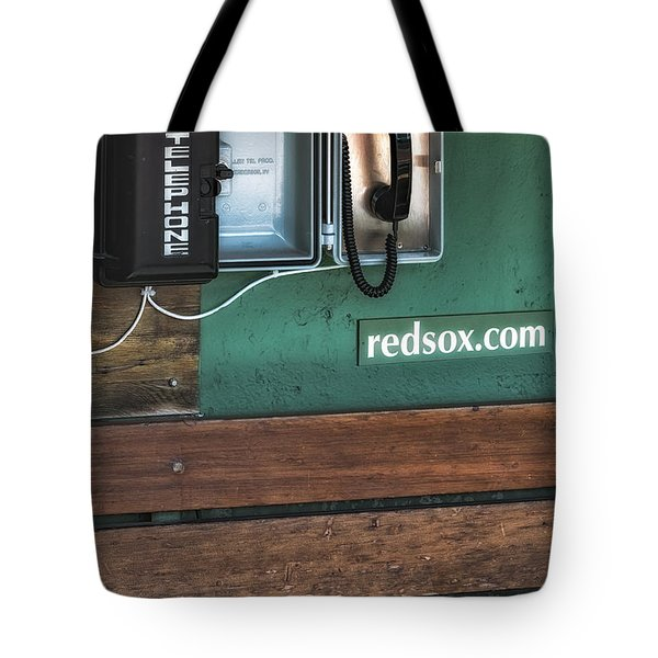 Boston Red Sox Dugout Telephone Tote Bag