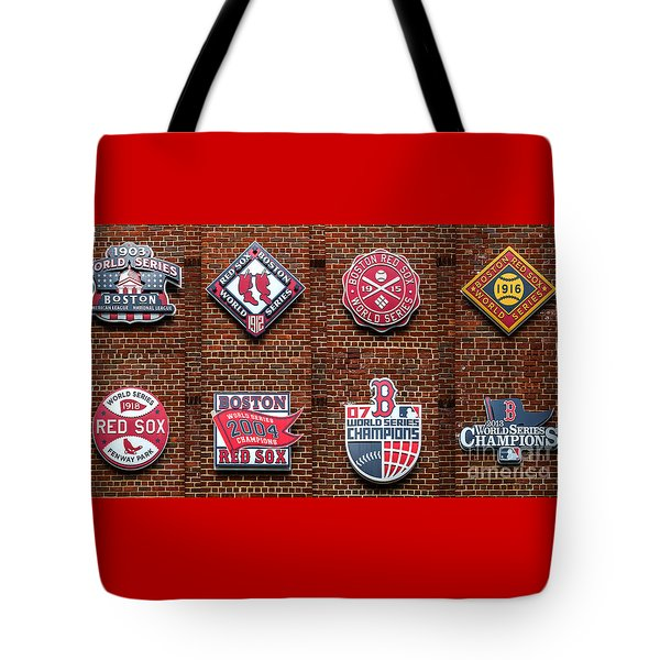 Boston Red Sox World Series Emblems Tote Bag