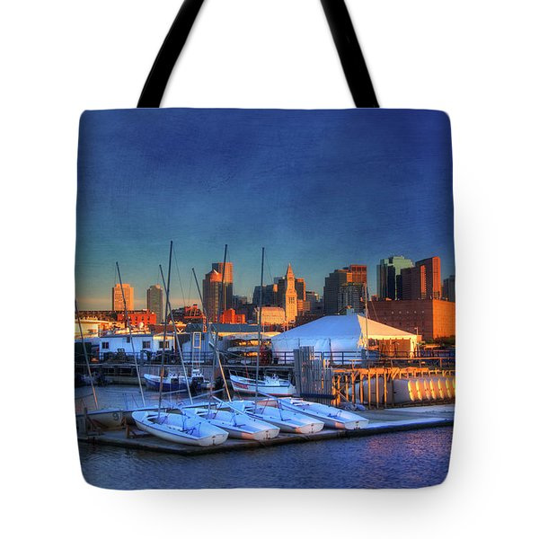 Tote Bag featuring the photograph Boston Skyline From Charlestown Navy Yard by Joann Vitali