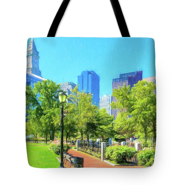 Boston Skyline From Columbus Park Tote Bag