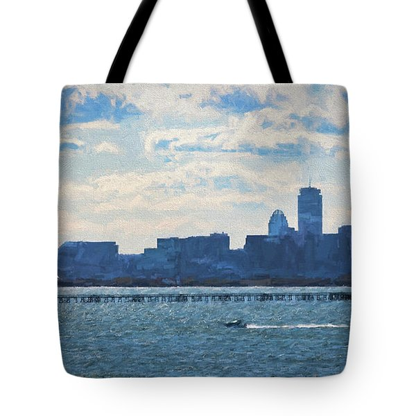 Boston Skyline From Deer Island Tote Bag