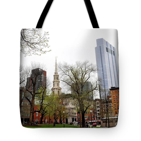 Boston Skyline From The Common Tote Bag