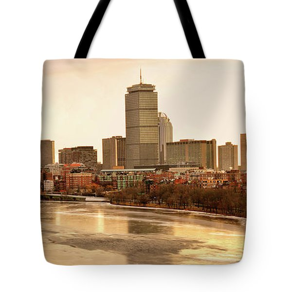 Boston Skyline On A December Morning Tote Bag