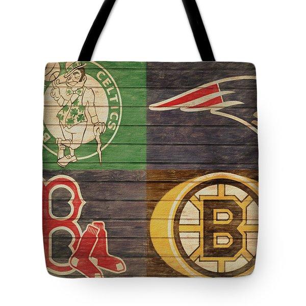 Boston Sports Teams Barn Door Tote Bag